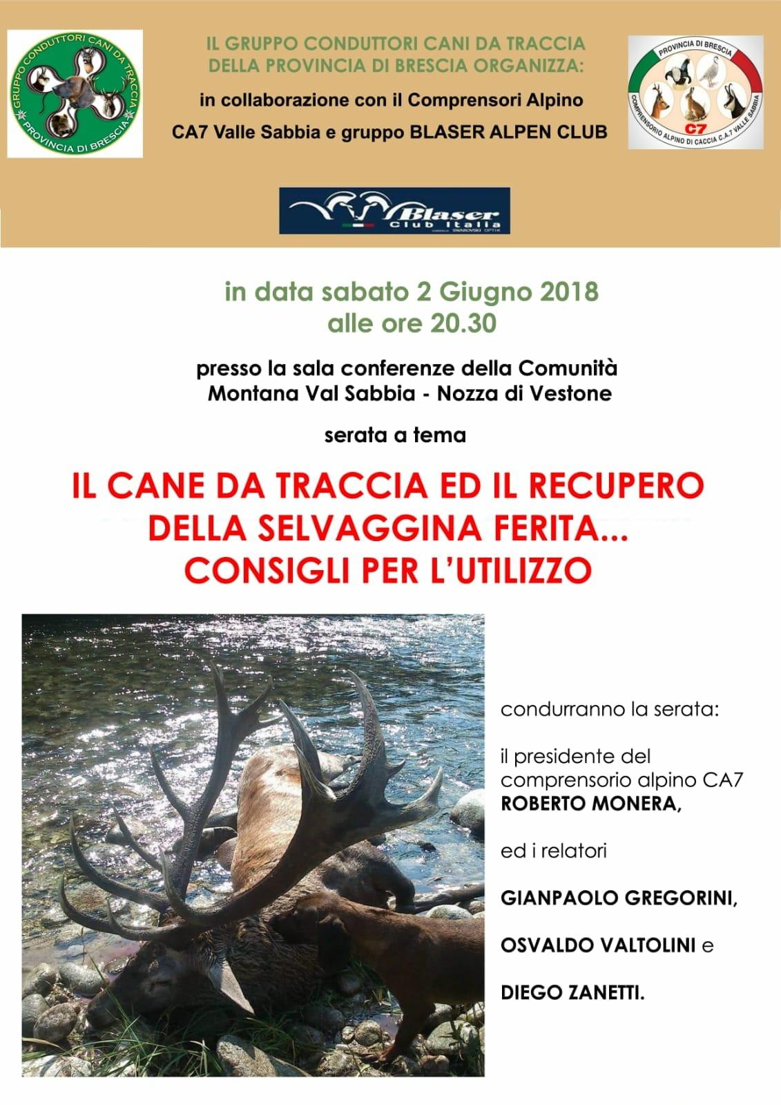 IL CANE DA TRACCIA SABATO 02 GIUGNO 2018